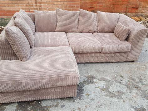 beige cord corner sofa 1 month delivery sandwell sandwell