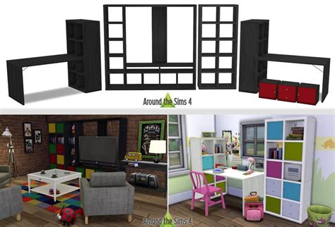 expedit scaffale ikea expedit kallax ts4 cc objects ikea
