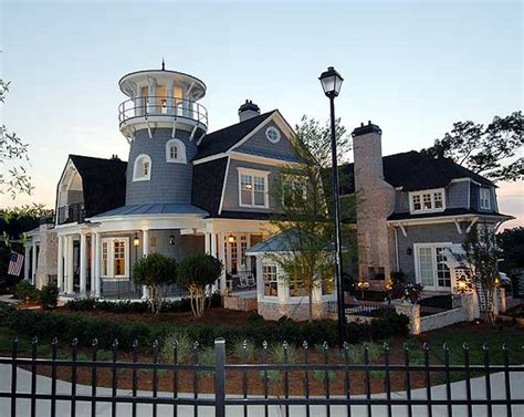 traditional shingle style classic american cottage  lighthouse tower idesignarch