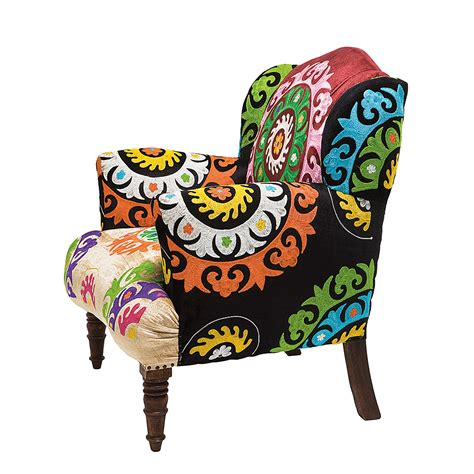 oga home design products kare design ohrensessel patchwork mandala clubsessel