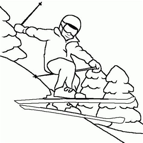 free coloring pages of santa ski