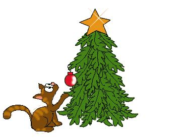 cats knocking over christmas trees tree clipart free graphics