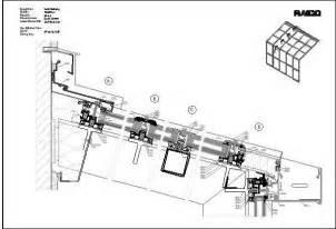 wintergarten detail cad detail therm glasdach stahl raico bautechnik