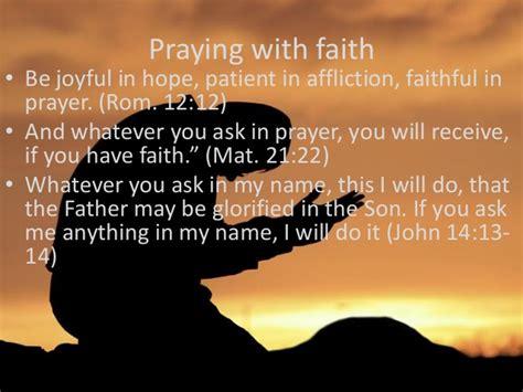 Power In Prayer the power of prayer