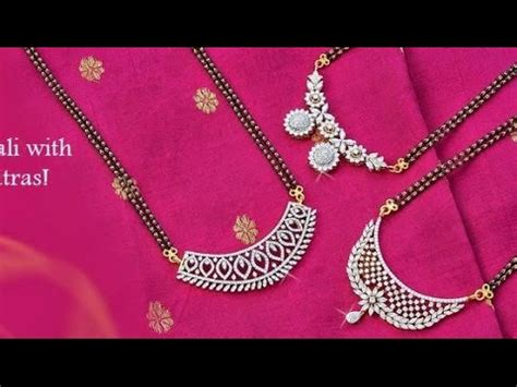 latest diamond mangalsutra designs with weight