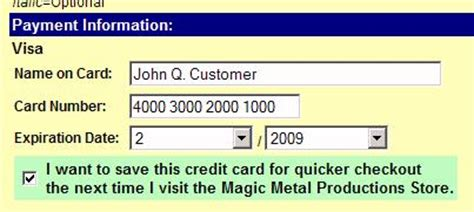 Sle Credit Card Number With Expiration Date For Card Magic Module