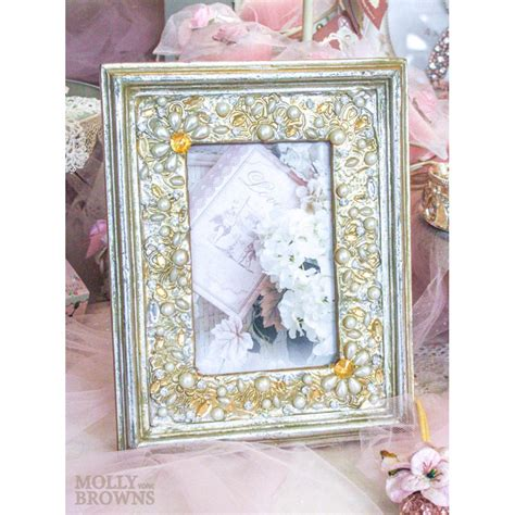 4x6 Photo Frames by Gold Pearl Embellished Photo Frame 4x6 By Molly Browns