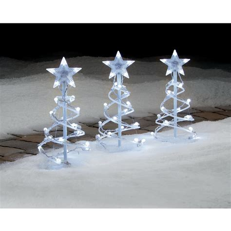 trim a home 174 clear led globe pathway spiral christmas tree