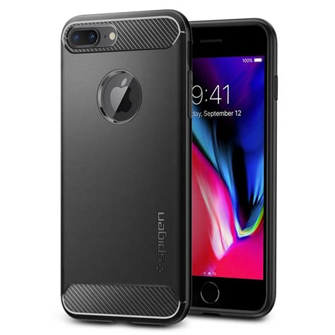 k 246 p spigen iphone 7 plus 8 plus rugged armor black