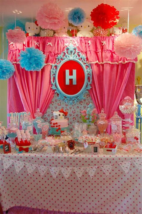 themes for a kitty party hello kitty birthday party ideas photo 6 of 70 catch