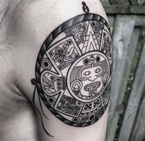 mayan calendar tattoo designs  men tzolkin ink ideas