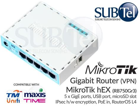 Mikrotik Rb750gr3 Router Board Switch 5 Port Gigabit 1000mbps Rb750g rb750gr3 mikrotik hex gigabit route end 10 25 2017 6 15 pm