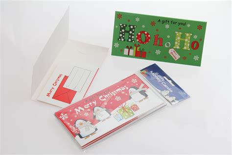 Gift Cards Cash - christmas gift money cards assorted bright ideas crafts