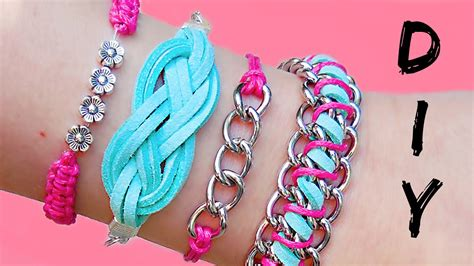 DIY Friendship Bracelets!! 4 Easy Stackable Arm Candy, Easy Diy String Bracelets   Sass Experience
