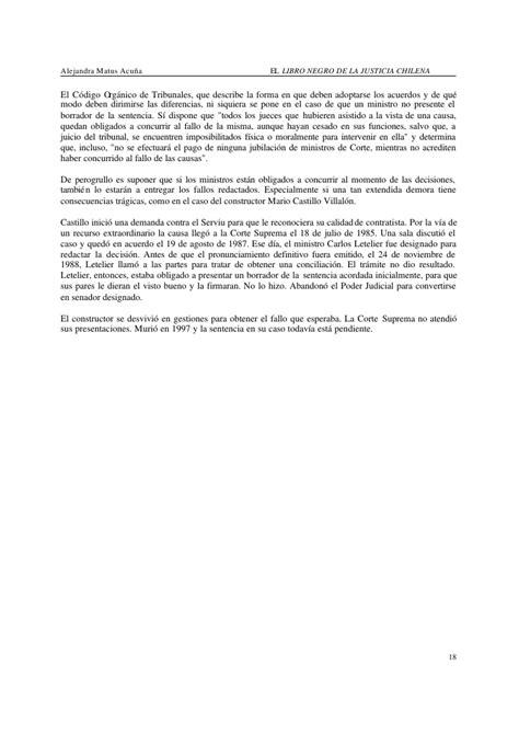 libro la justicia de franco alejandra matus acua el libro negro de la justicia chilena