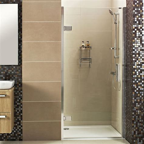 decem hinged shower door for alcove fitting showers