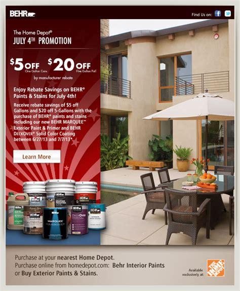 behr paint colors rebate july 4th promotion
