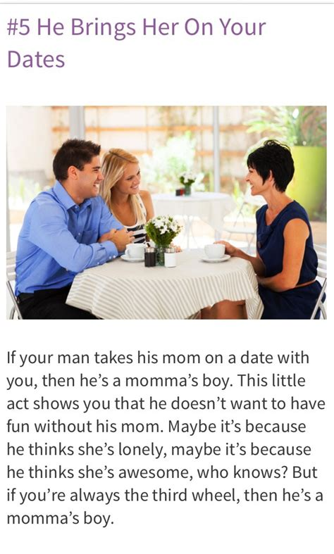 7 Signs You Are With A Mamas Boy by 8 Signs You Re Dating A S Boy Trusper
