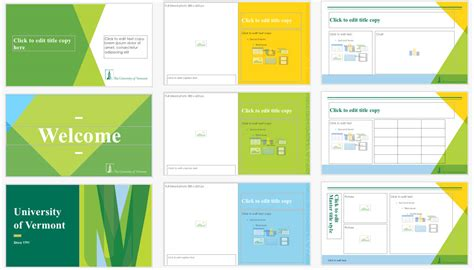 best powerpoint templates for university presentation downloads and exles university of vermont creative