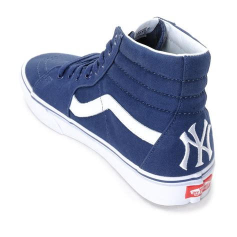 New Vans For vans sk8 hi sneakers mlb new york yankees navy ebay