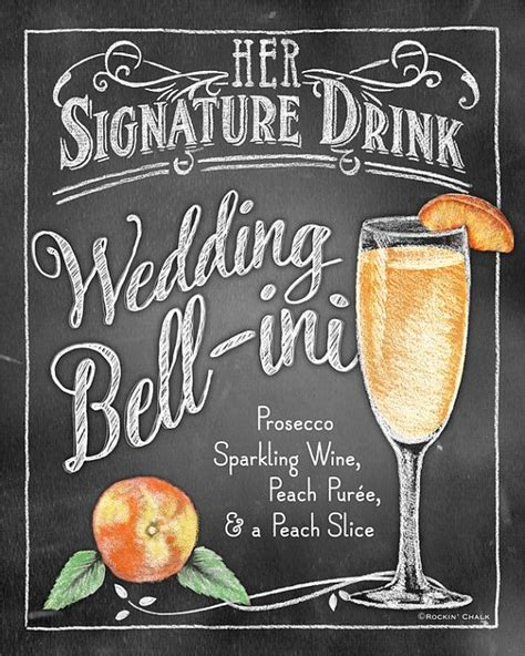 25 best ideas about signature drink signs on pinterest