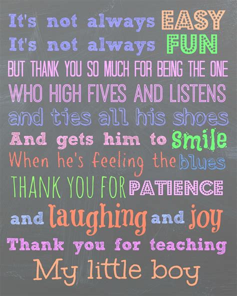 Thank You Note To Preschool Assistant Free Printable For A Quot To My S Teachers Thank
