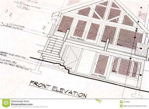 blue prints for a house house plans blueprints front royalty free stock