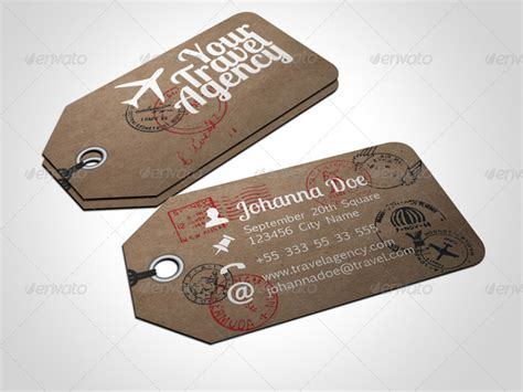 travels visiting card templates 15 real objects business cards designs