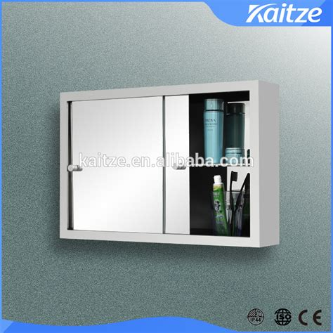 bathroom sliding mirror cabinet sliding stainless steel bathroom mirror cabinet medicine