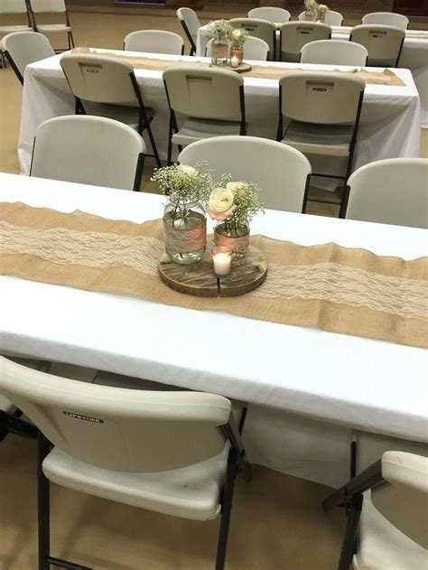 wedding decoration wedding shower decorations exle rustic bridal shower table centerpiece burlap and lace