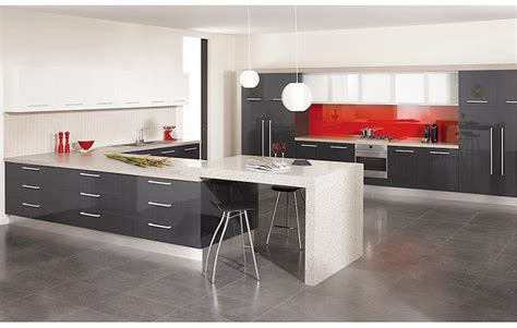 2016 new high gloss kitchen doors gray in kitchen