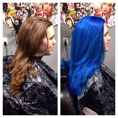 pravana blue hair color pravana vivids blue and neons blue hair design