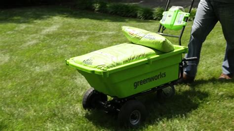 green charger fertilizer greenworks g40gck2x 40v garden cart with 2x 2ah batteries