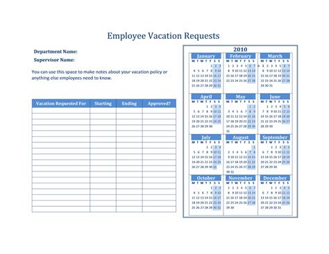 2015 calendar excel template vacation