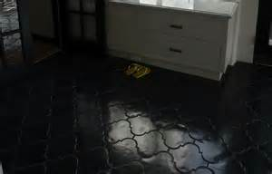 bathroom floor tiles black black arabesque tile contemporary bathroom the roof