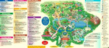 theme parks florida map tree of animal kingdom amusement and theme parks