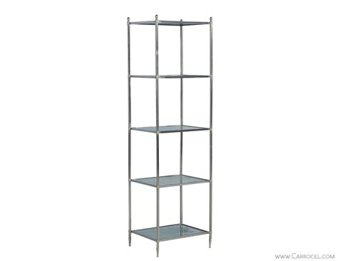 Etagere Nickel eglomise glass polished nickel etagere carrocel