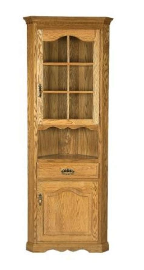 corner hutches amish corner hutch cabinet by