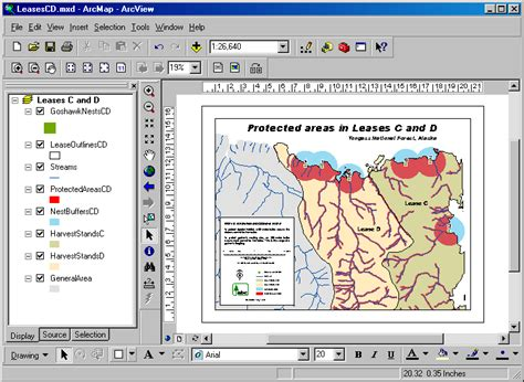 layout toolbar arcgis 10 lab 14 designing maps with arcgis
