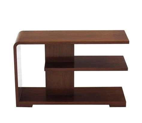 mid century walnut table or desk top shelf at 1stdibs