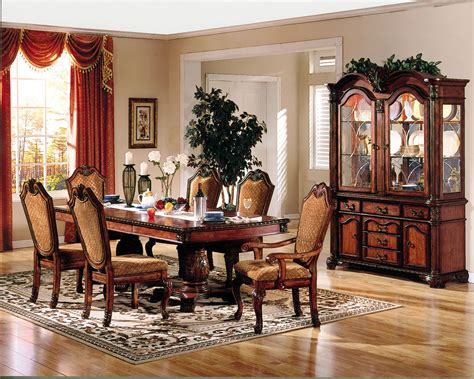 acme chateau de ville 7 pc pedestal dining set in