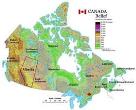canada mountain map canada