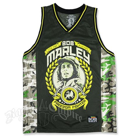 jersey design reggae bob marley freedom fighter camo baseketball jersey men s