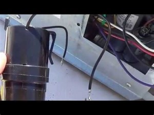 install start capacitor into rv air conditioner