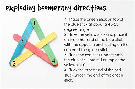 How To Make A Five Point Out Of Paper - craft stick exploding boomerangs i can teach my child