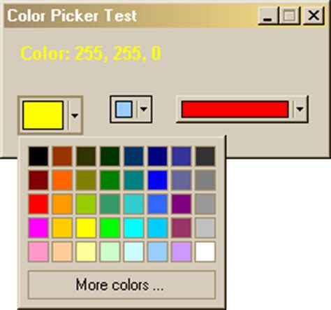 ms office style color picker dialog