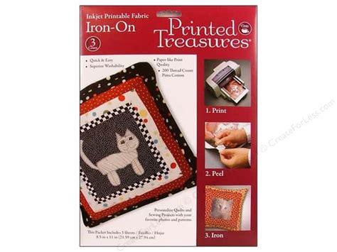 dritz printable fabric sheets inkjet fabric sheets by printed treasures 3 pc
