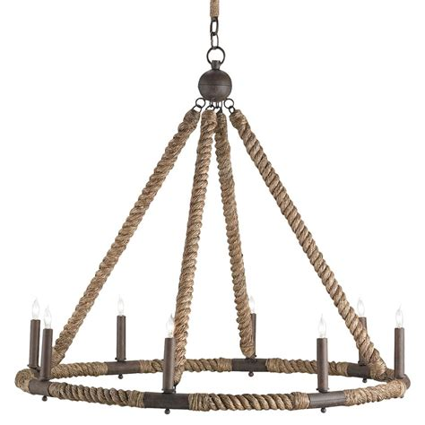 Rope Chandelier Seafarer Nautical Style Wrapped Rope 8 Light Chandelier Kathy Kuo Home