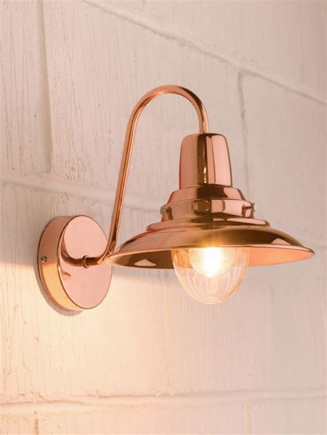 copper wall lantern copper external wall light