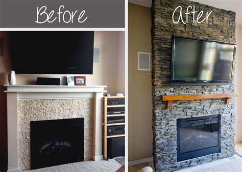 Diy Fireplace by Hirondelle Rustique Diy Stacked Fireplace